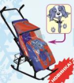 """Санки-коляска """"Герда""""с колесами"""