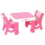 Набор Стол + стул розовый