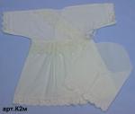 Платье крестильное с косынкой #К2м