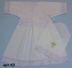 Платье для крещения с косынкой #К2
