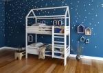 Кроватка-домик «Двухъярусная»180
